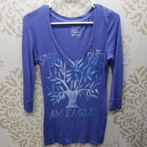 American Eagle 3/4 Sleeve Top- Size Small